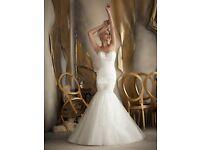 BEAUTIFUL BRIDAL DRESS AND LACY BOLERO .......BY MORI LEE