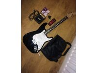 RockJam Guitar and Mini Marshall Amp