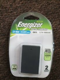 Canon IXUS charger CB-2LSE (used) + Energizer battery compatible NB-1L (new)