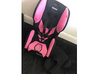 Recaro Pink Young Expert Plus Car seat with Recaro Isofix.