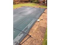 Swimming pool winter cover with fittings, SOLAR thermal cover and reel system, Pond Liner Allotment