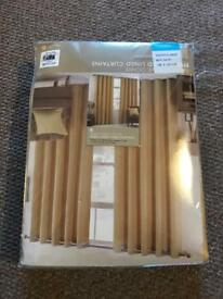 Mustard yellow curtains 66x54 brand new