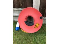 Caravan Electric Hookup with cable tidy reel