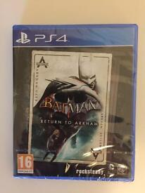 BATMAN RETURN TO ARKHAM PS4 BRAND NEW A AND SEALED