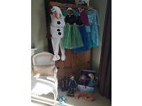 Disney Frozen dress up/ doll bundle aged 5-6 /7-8
