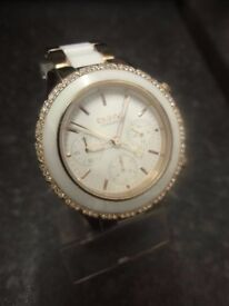 DKNY NY8825 LADIES ROSE GOLD AND WHITE CERAMIC WATCH IN EXCELLENT CONDITION
