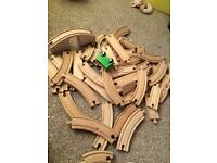 Train track wooden