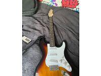 Gear4music sunburst 6-string electric guitar