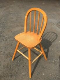 Childs solid pine spindle back dining chair