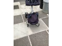 STOKKE XPLORY STROLLER IN NAVY GOOD CONDITION