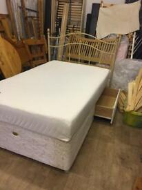 Mini double with memory foam mattress and headboard free delivery in hull