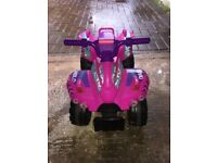 Electric quad bike -girls pink