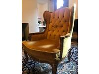 Georgian Gold Wingback Chair