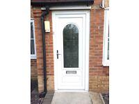 UPVC White Double Glazed Door