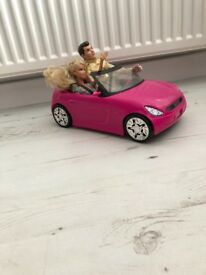 Pink Barbie Car with Dolls