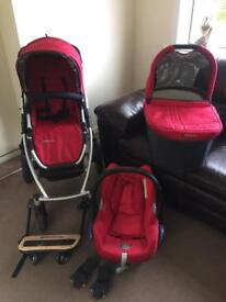 Uppababy Vista travel system - with Maxi Cosi car seat