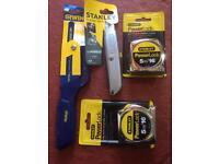 4 x hand tools new.