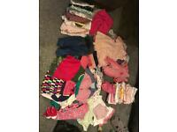 Baby girl clothes 6-9 mostly