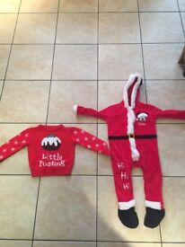 Children's Christmas jumper & Father Christmas all in one