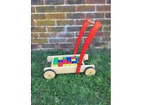 John Lewis baby walker and bricks