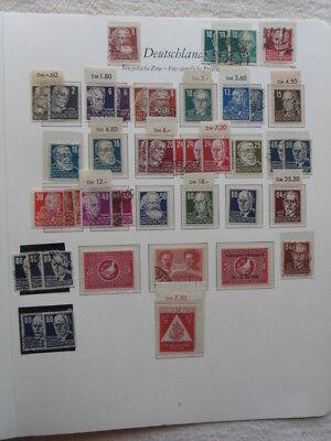 Briefmarkensammlung SBZ / Allg. Ausgaben mit Block 6 auf 3 Seiten