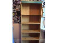 5 shelf pine unit