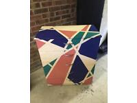 Very cool hand painted chest of drawers