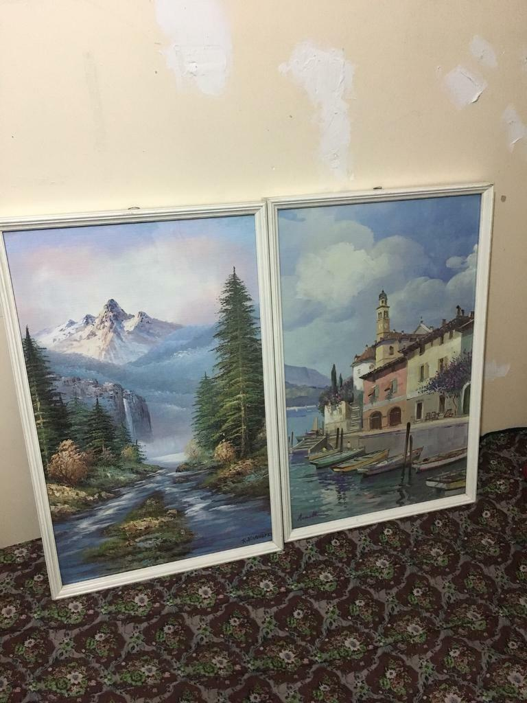 2x rare vintage signed painted frames   in Forest Gate, London   Gumtree