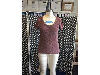 RAG & BONE knitted tweedy T-shirt, Size S/M