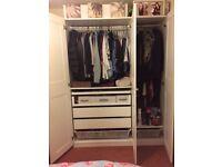 Triple White Ikea pax wardrobes