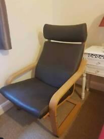 Dark Brown Arm Chair