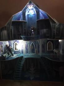 Excellent Condition, Like New Frozen Mansion over 4 Ft Tall including Figures