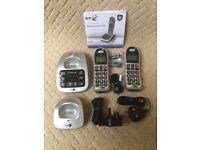 New BT 4500 Twin (Large Button) Digital Telephone System.