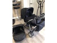 Silver Cross pram with car seat and changing bag