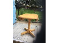 round wood folding dining table