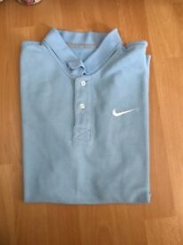 Nike light blue top