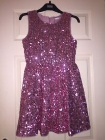 Girls Marks and Spencer sequin dress age 11-12