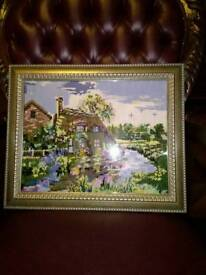 COUNTRY COTTAGE TAPESTRY SCENE