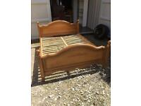 Solid pine superking bed