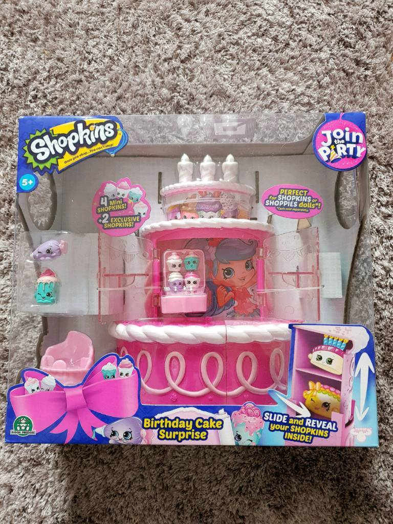 BNIB Shopkins Birthday Cake Suprise