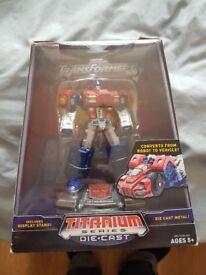 """Transformers Titanium 6"""" Die-Cast Transforming Optimus Prime War Within"""