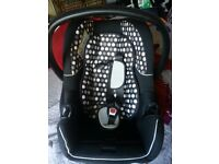 new born car seat and baby carrie