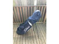 MacGregor golf clubs and titleist bag