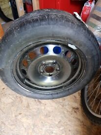 Brand new spare wheel and tyre for Octavia