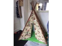Cowboys and Indians wigwam teepee
