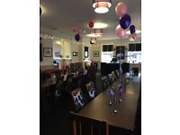 Fully furnished Restaurant to let, with fully equipped kitchen.