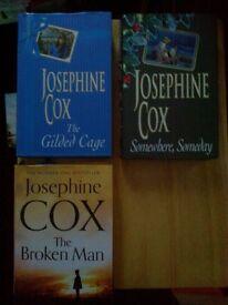 3 JOSEPHINE COX HARDBACK BOOKS