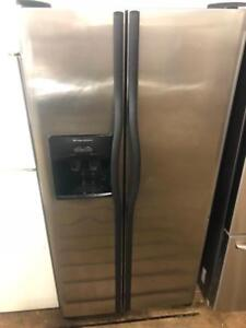 Frigidaire 33 Side By Side Stainless Steel Fridge
