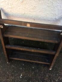 Ercol small shelf plate rack vintage retro