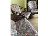 Garden / Conservatory Chairs | Three Seater + Two Armchairs